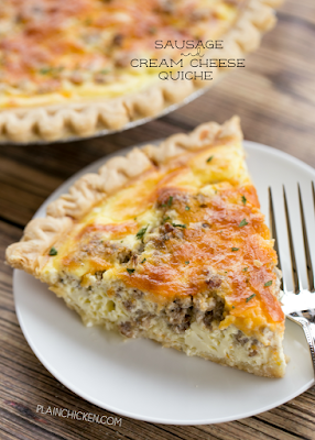 Sausage and Cream Cheese Quiche