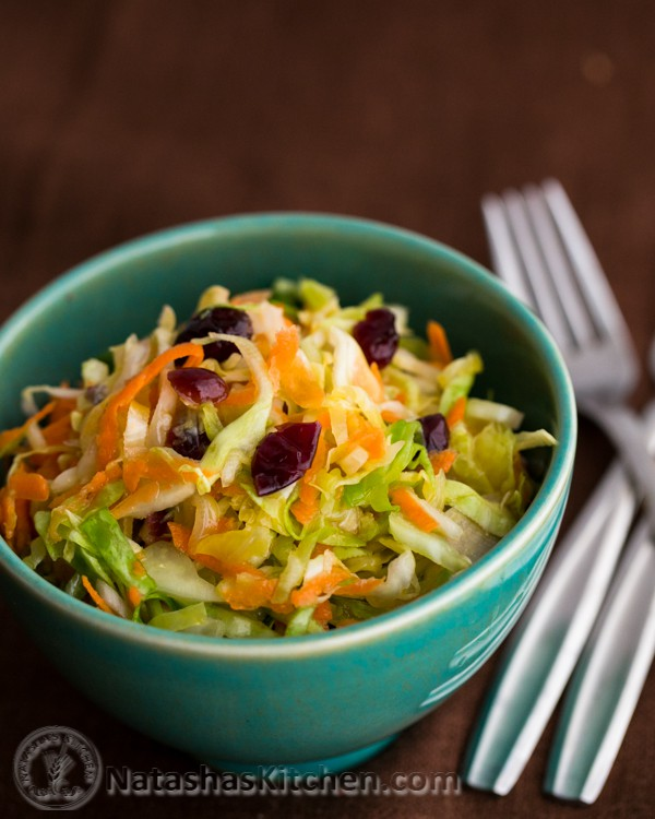 Cabbage Carrot and Cranberry Salad Recipe