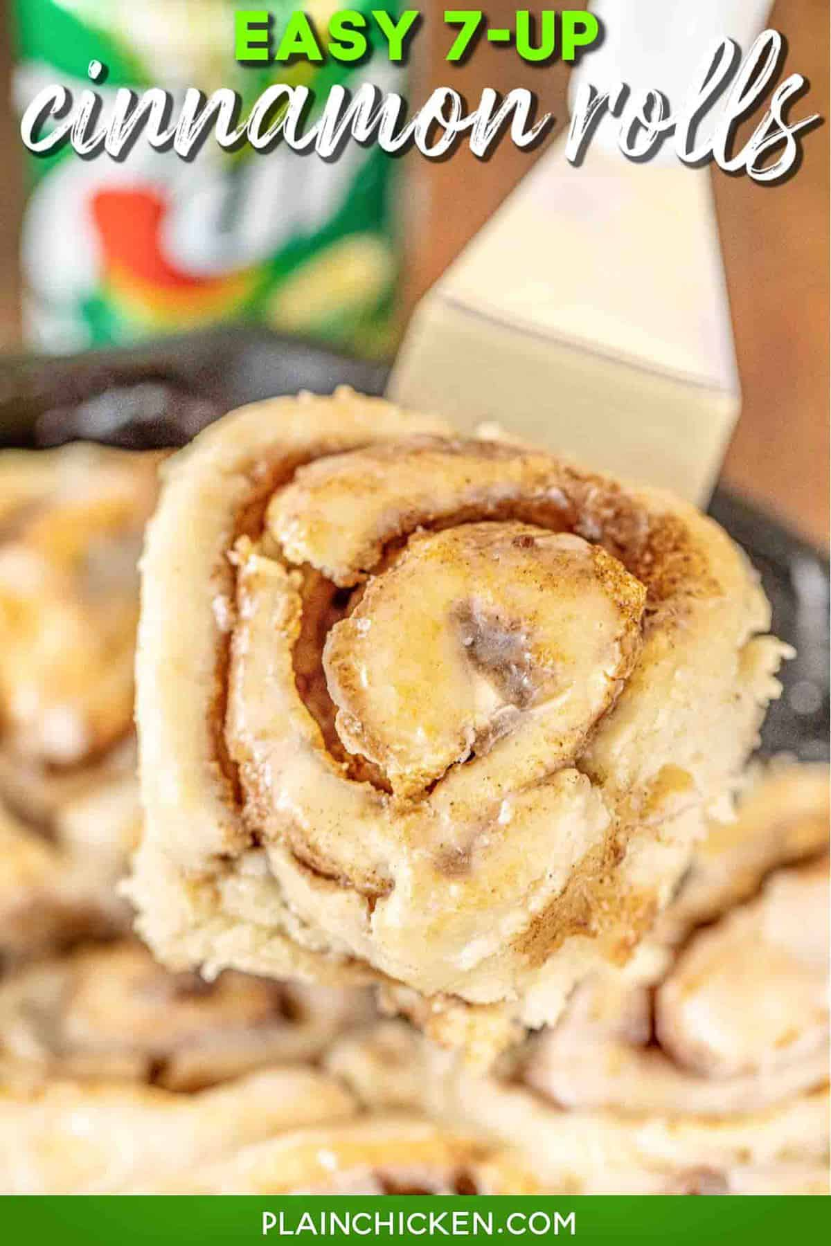 7up Cinnamon Rolls (No Yeast)