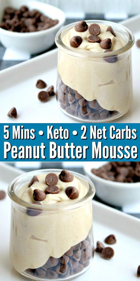 EASY KETO PEANUT BUTTER MOUSSE